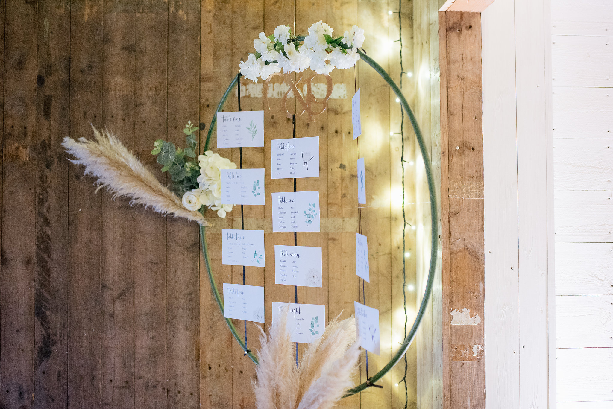 Floating Table Plan at The Normans Photo by Jules Barron