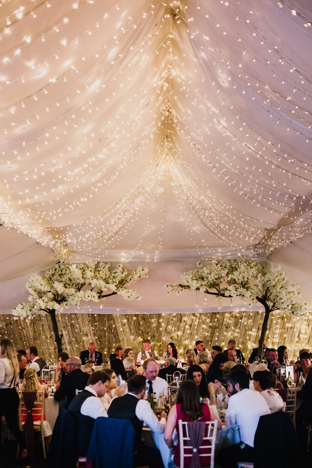 Feast beneath the fairylights at The Normans Photo by CJ Rodgers Photography