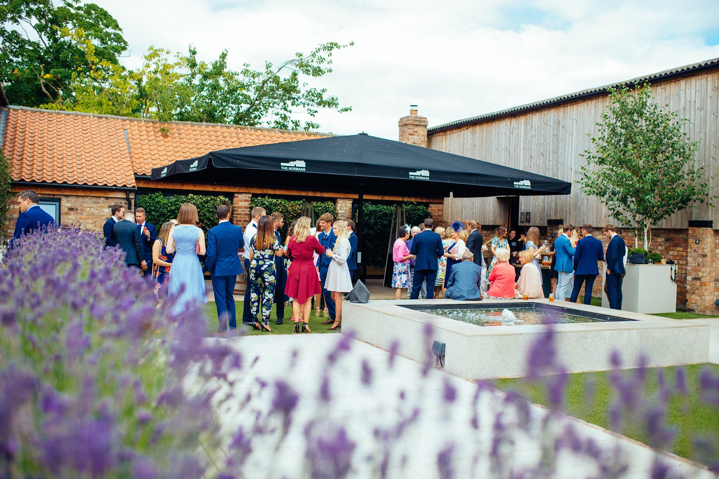 Mingle amidst the lavender at The Normans Mingle amidst the lavender at The Normans Photo by www.hamishirvine.com