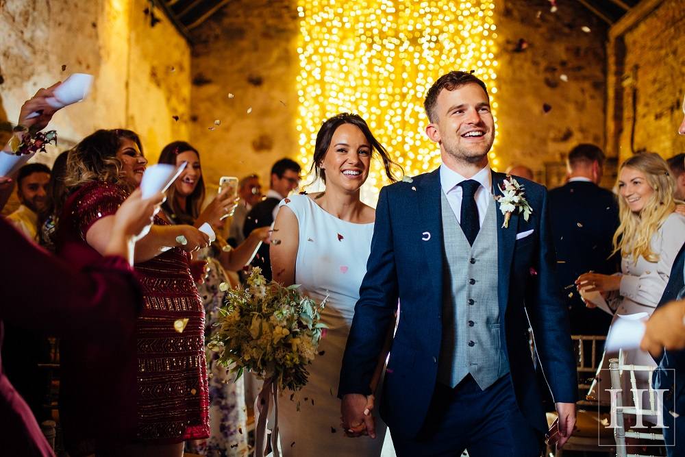 Just wed at The Normans Photo by www.hamishirvine.com