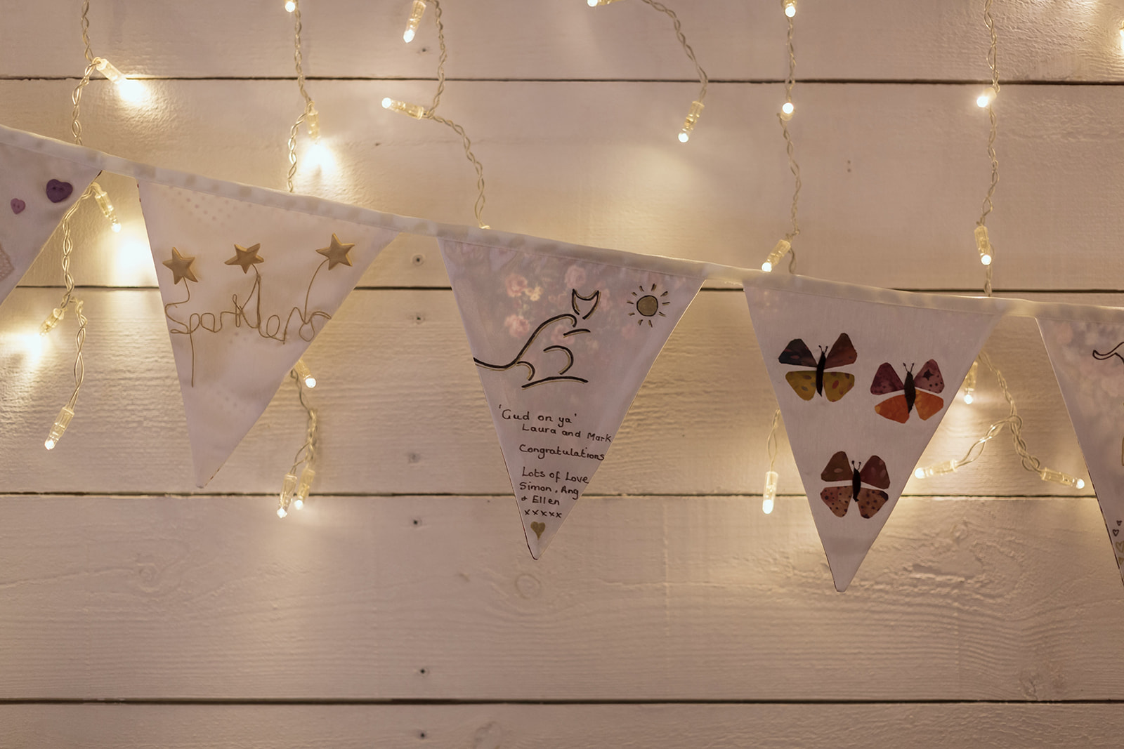 Bunting hand-sewn by the family of the bride - photo by Luke Bell.jpg