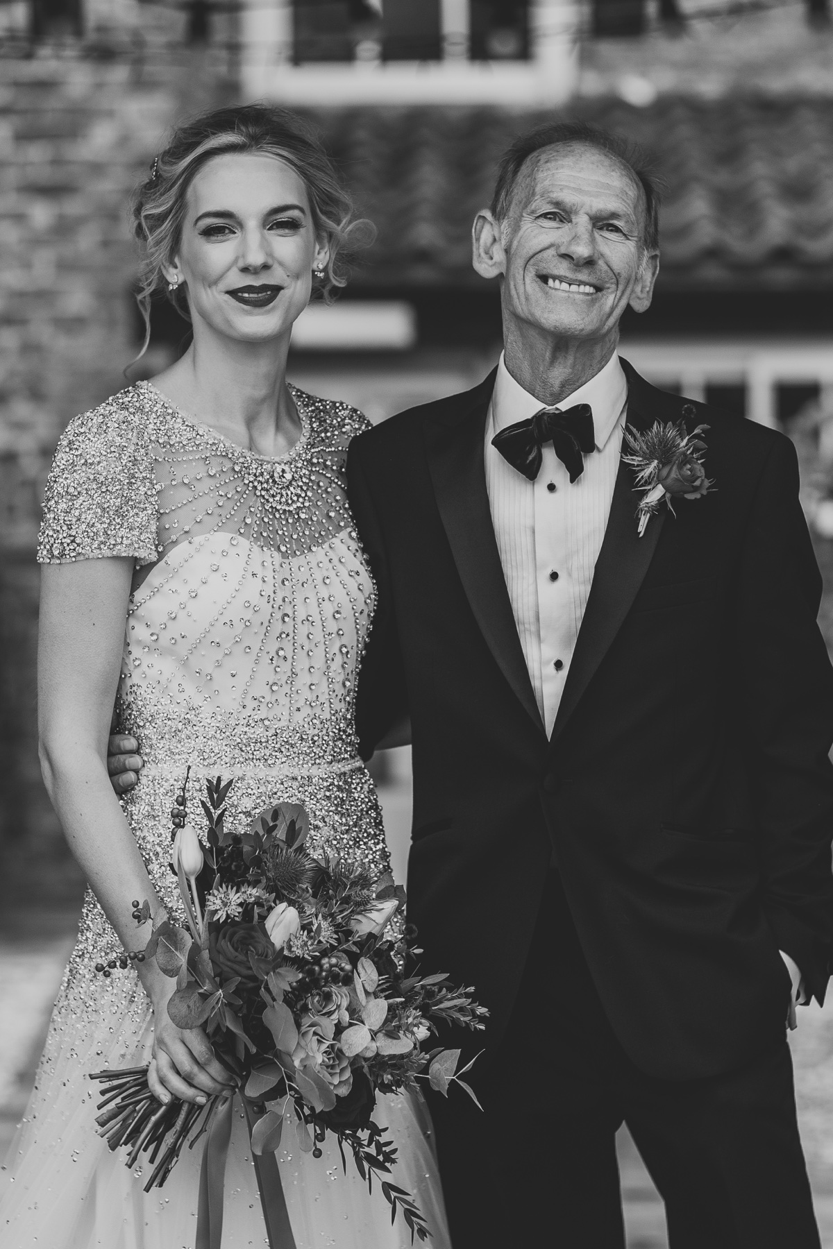 Stunning Sasah and her dad/. Photo by Bloom Weddings