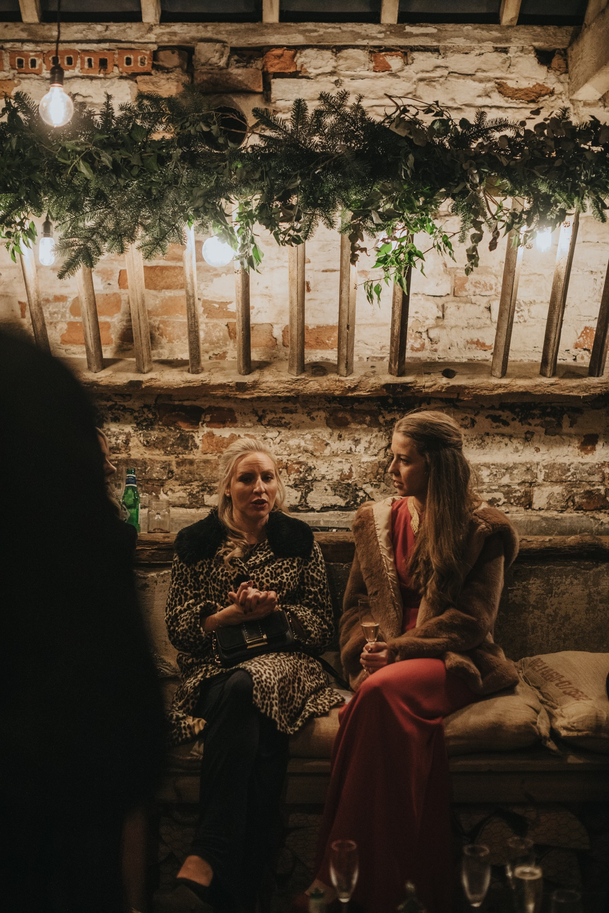 Keeping cosy in The Normans Cow Stalls. Photo by Bloom Weddings