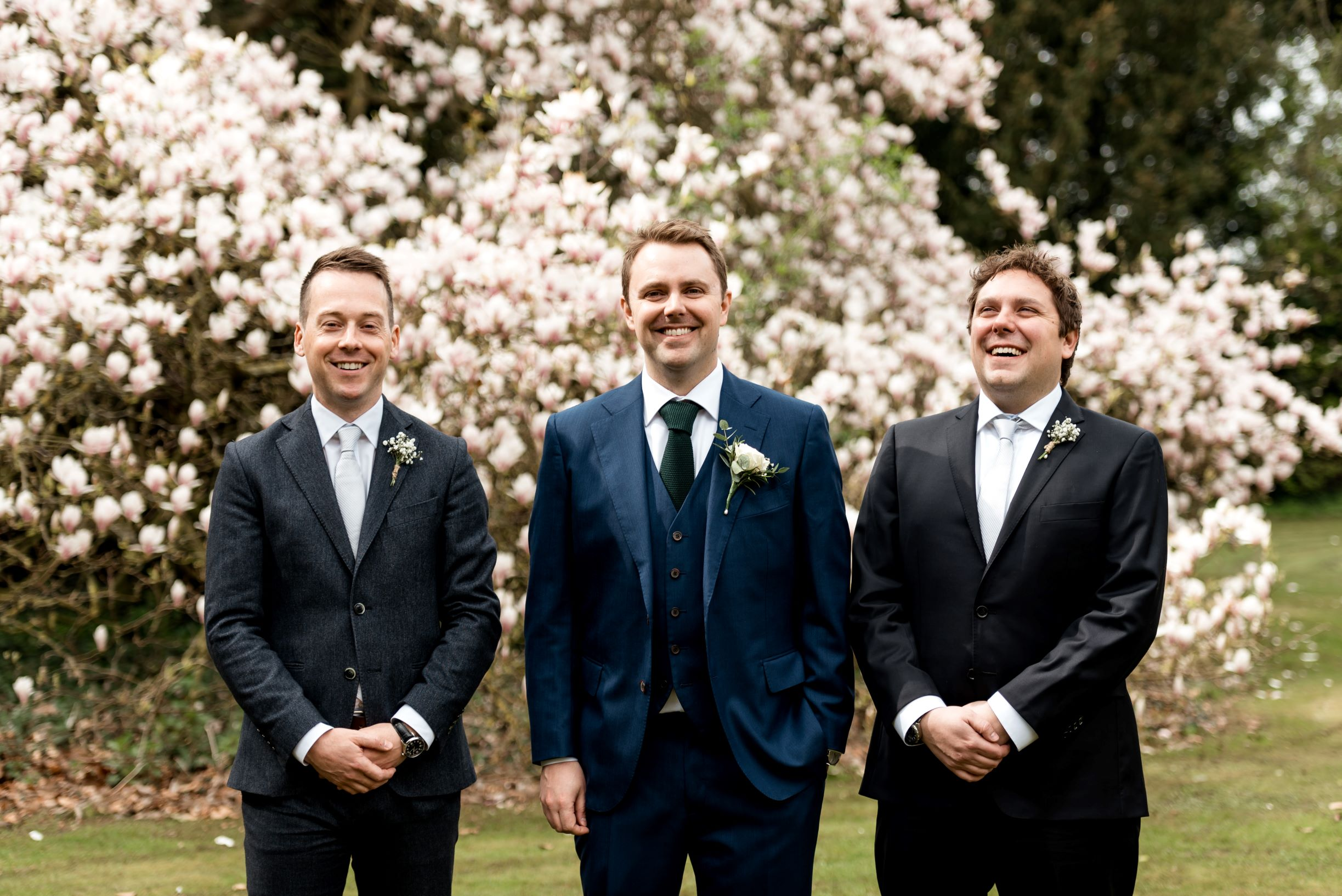 James and the boys. And a blossom tree.jpg