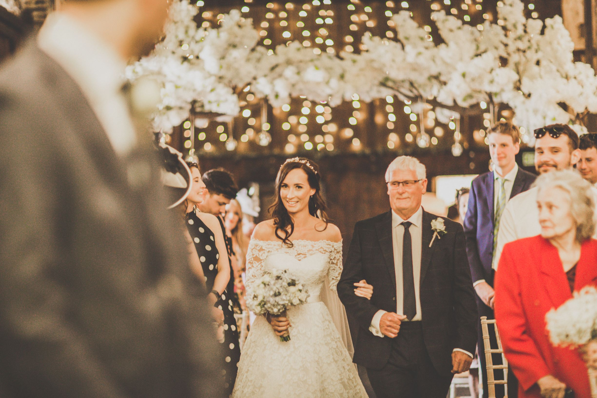 All eyes on Krista as she walks down the aisle.jpg