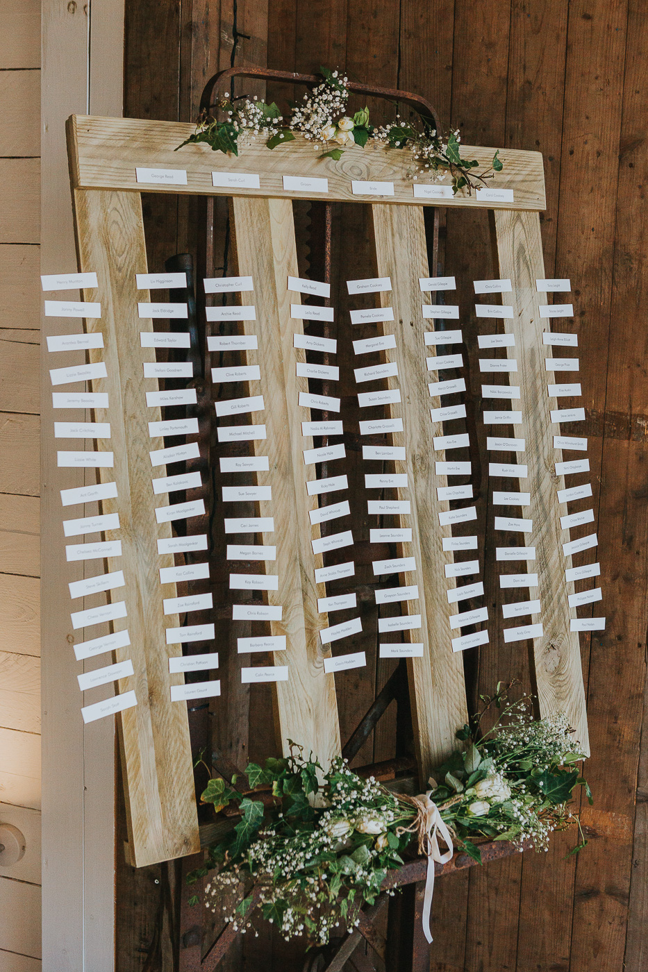 A delicate yet effective table plan for guests to find their places.jpg
