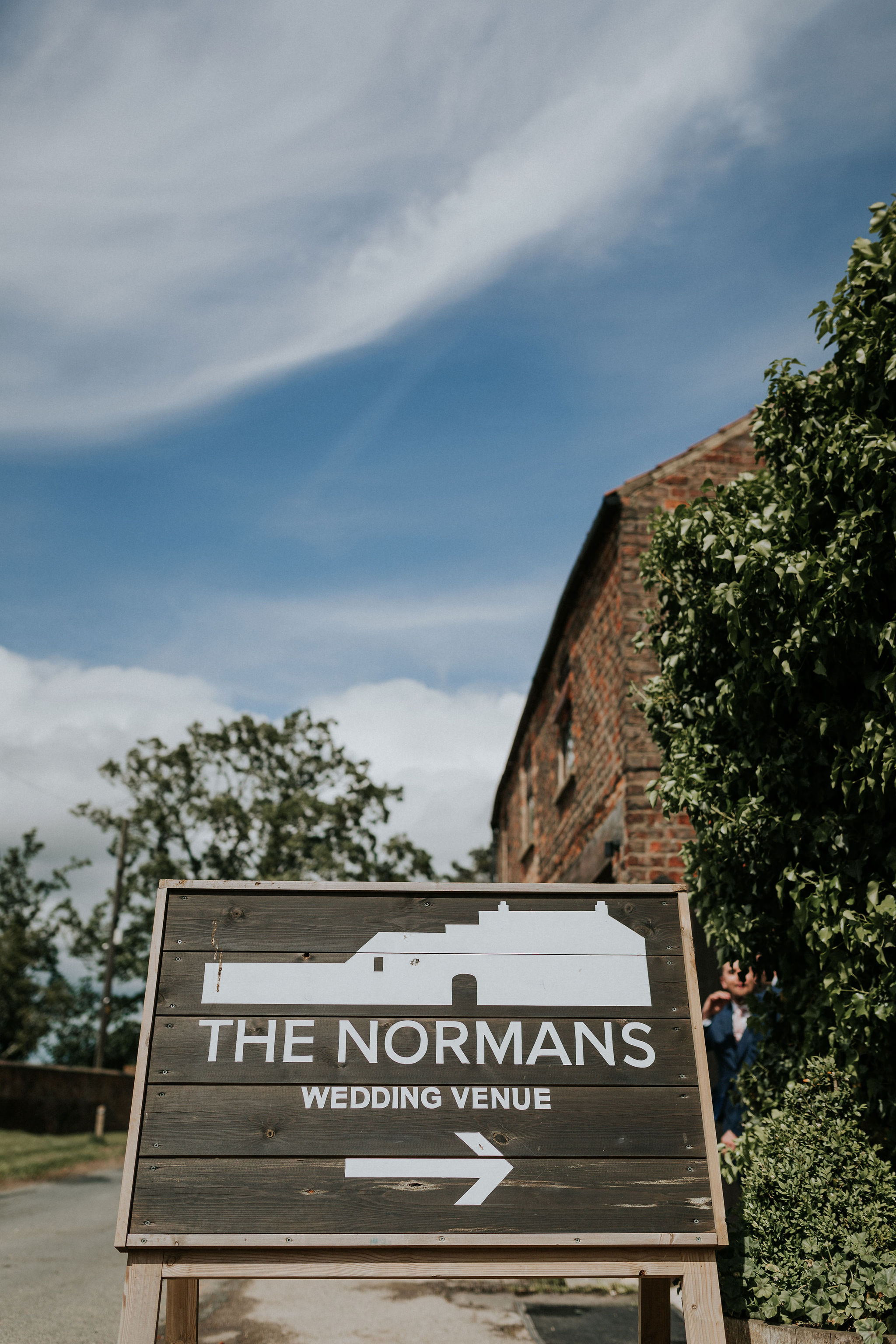 This way to The Normans wedding venue