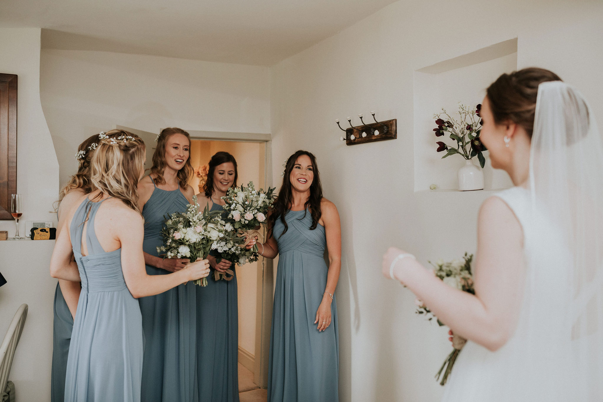 Katie gets her bridesmaids' seal of approval