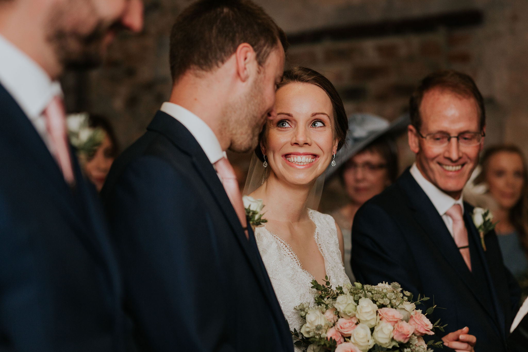 Rob and Katie united at the end of the aisle in The Normans Ceremony Barn.jpg