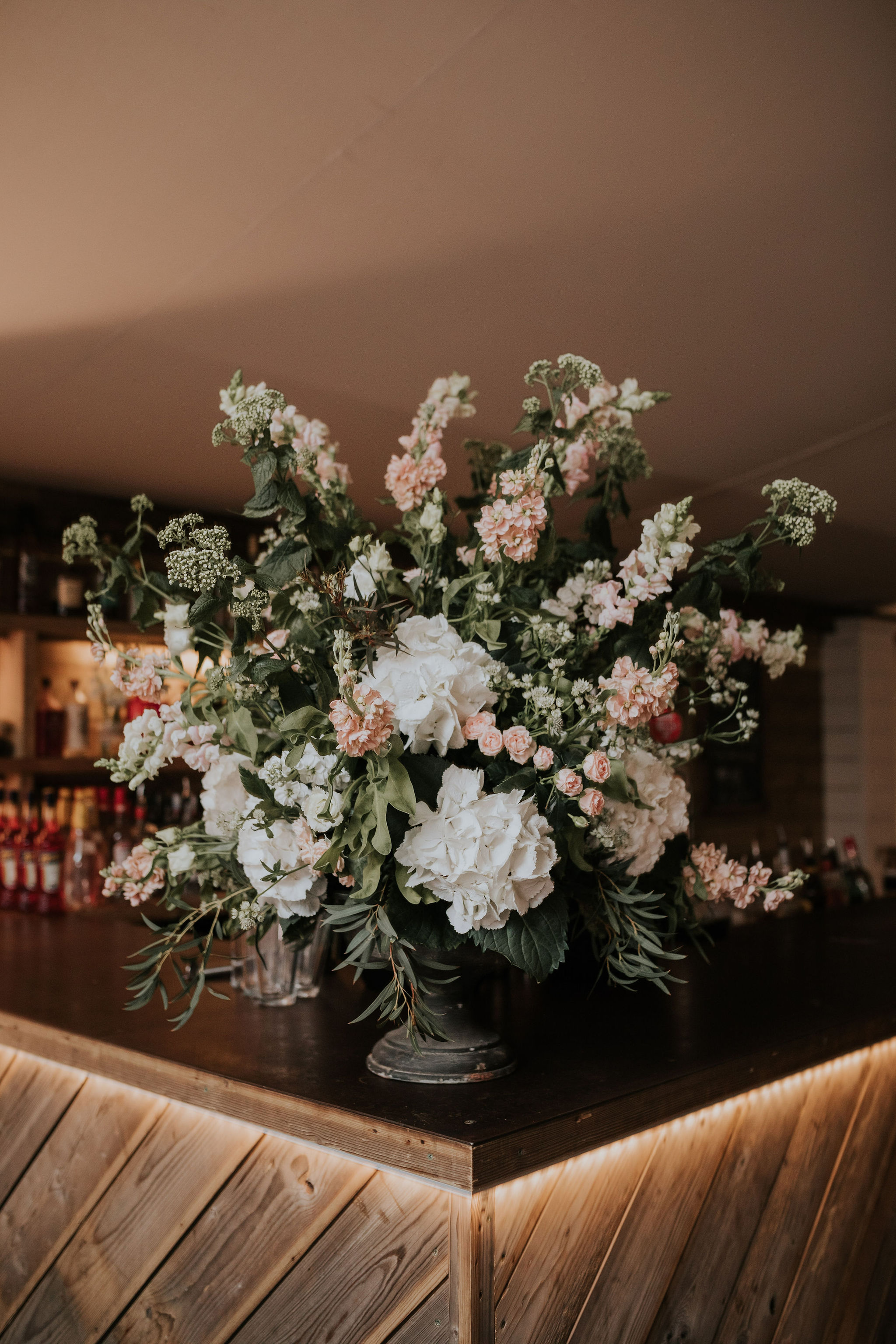 Stunning floral display of hydrangeas and stocks .jpg