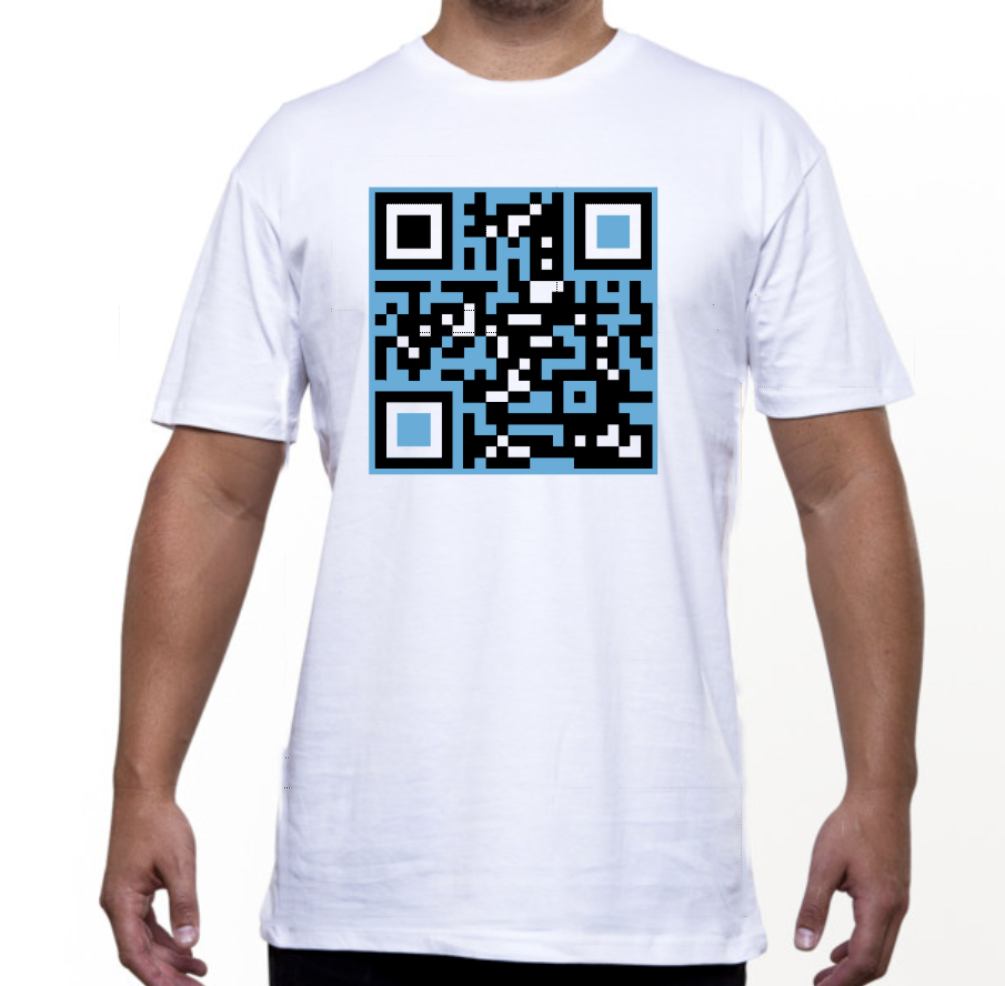 White Tee - Club QR Code - for the Computer Geek within.