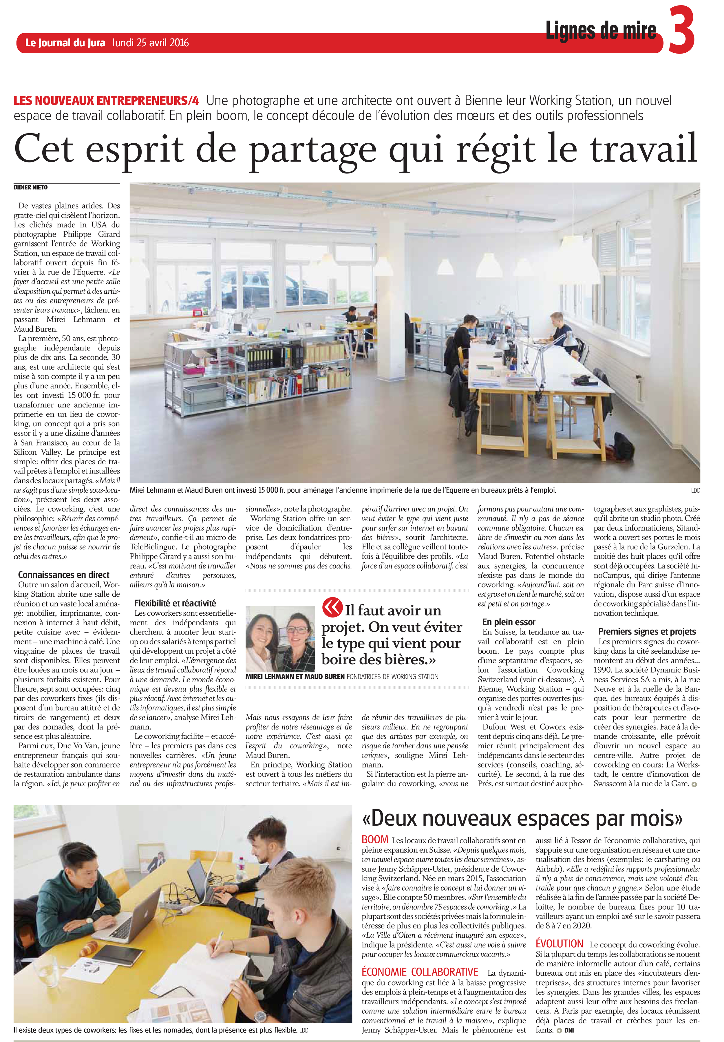 Journal du Jura / 25 juin 2016