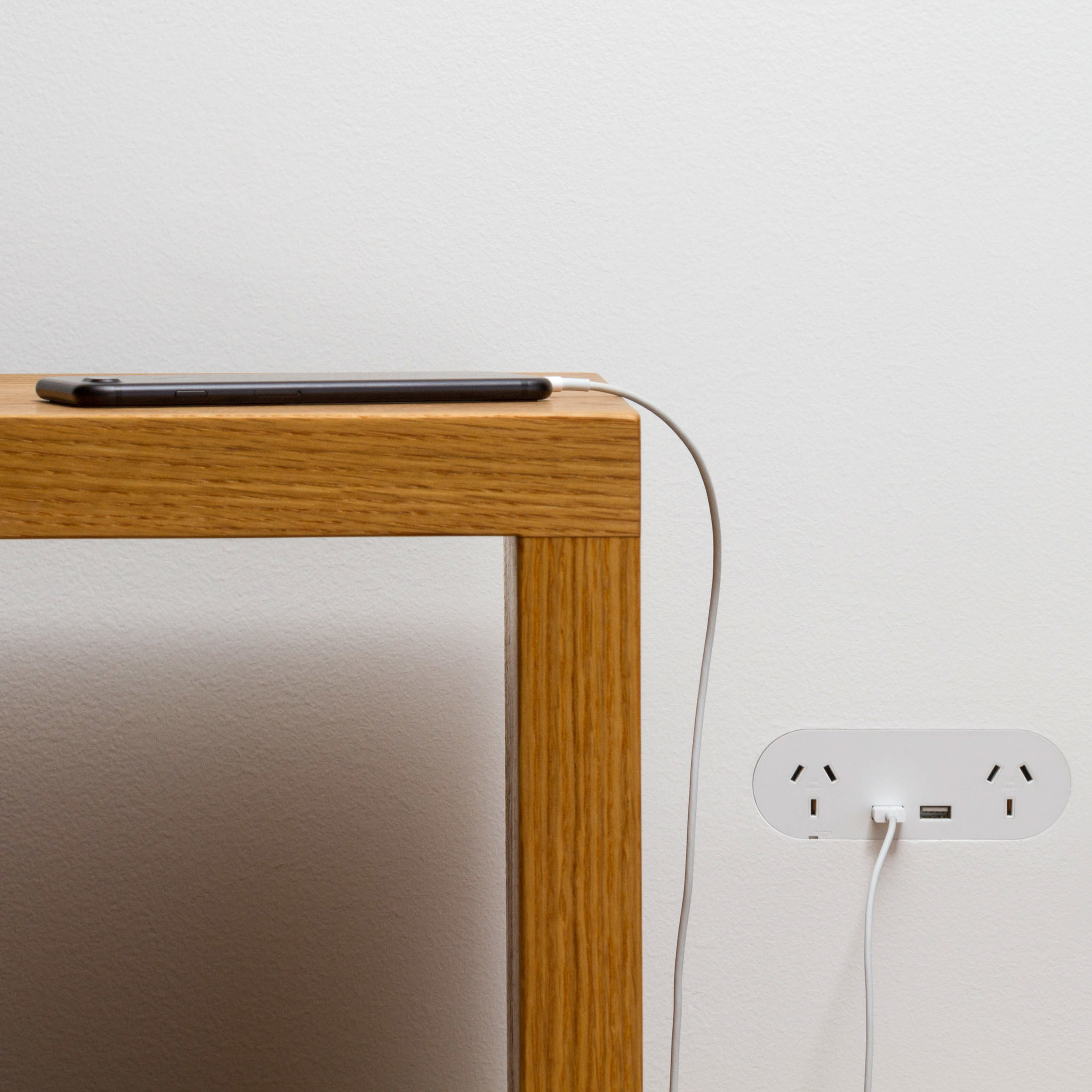ZETR Double Outlet with USB in Plasterboard