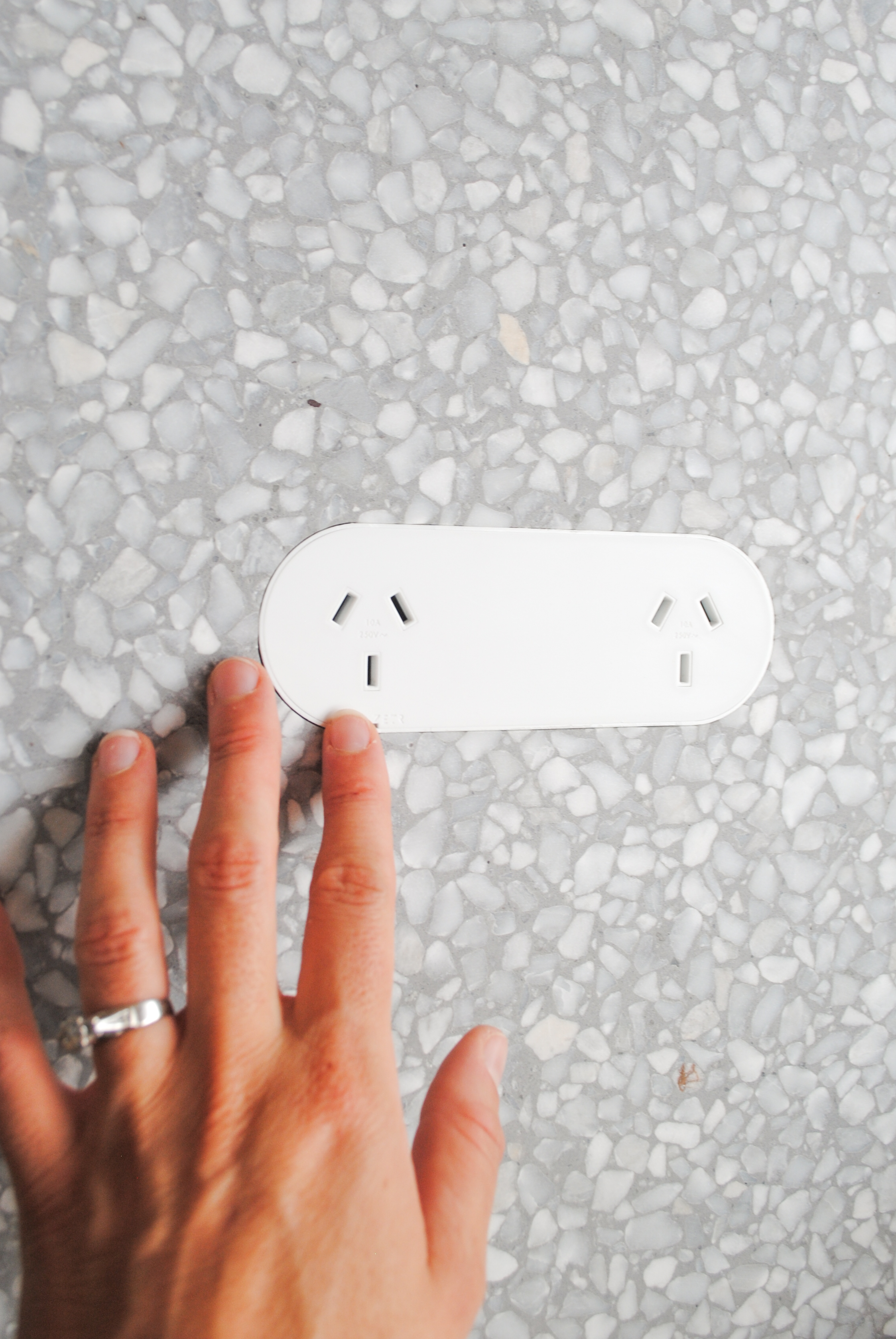 ZETR 13-O-W | Double Outlet x Surface Gallery Terrazzo 112 HONED 3