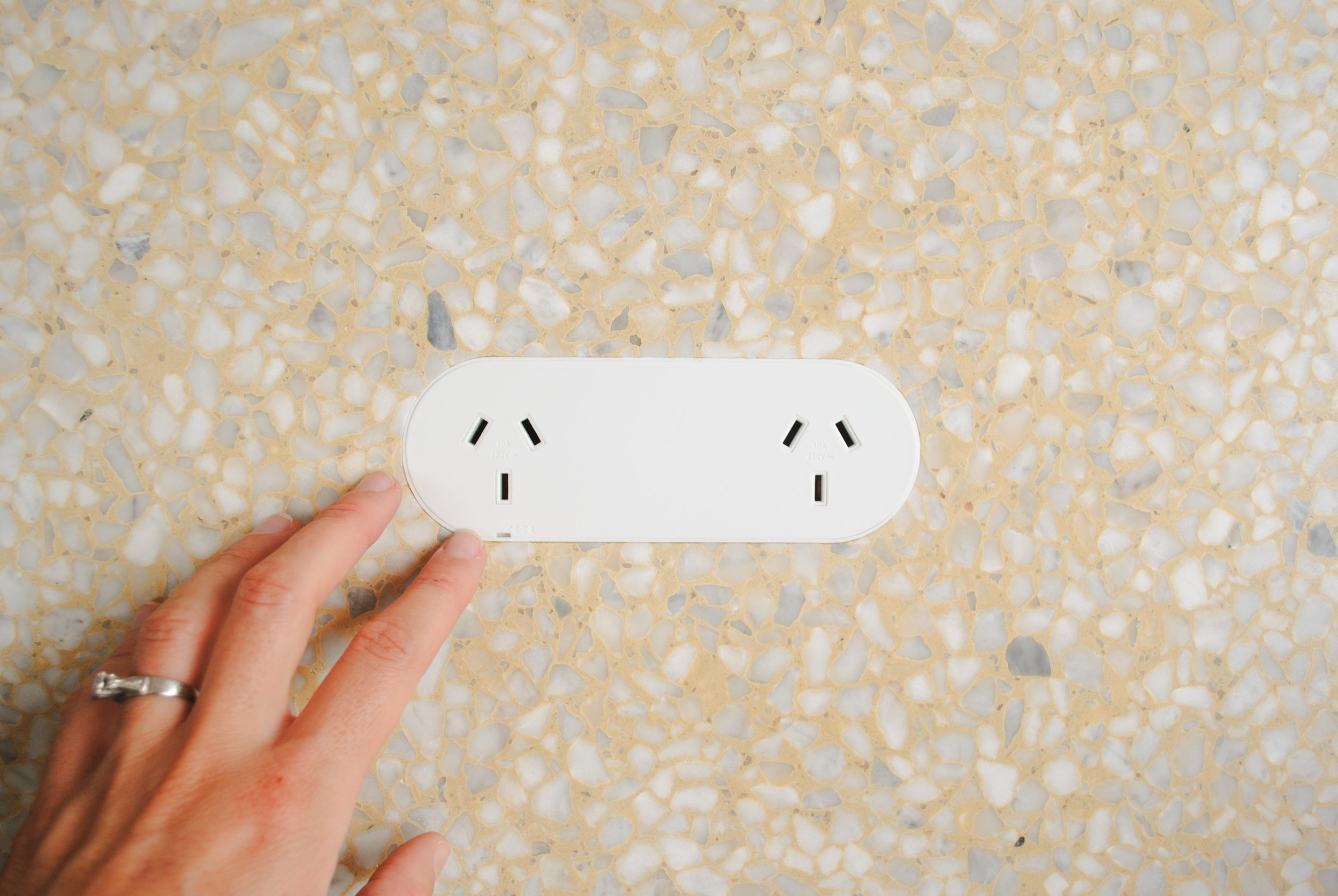ZETR 13-O-W | Double Outlet x Surface Gallery Terrazzo 118 HONED