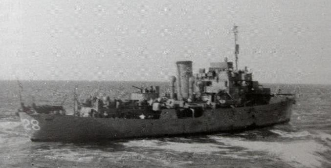 HMS Calendula at sea