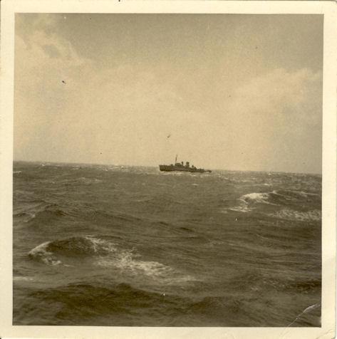 HMS Hollyhock at sea