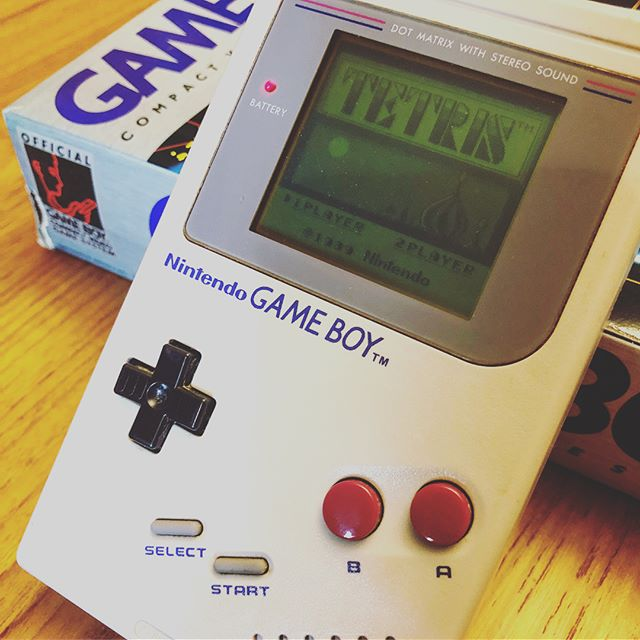 Cleaned up, dusted off, and fired up.  #NintendoGameBoy - this one is 25 years old and still just as good.
