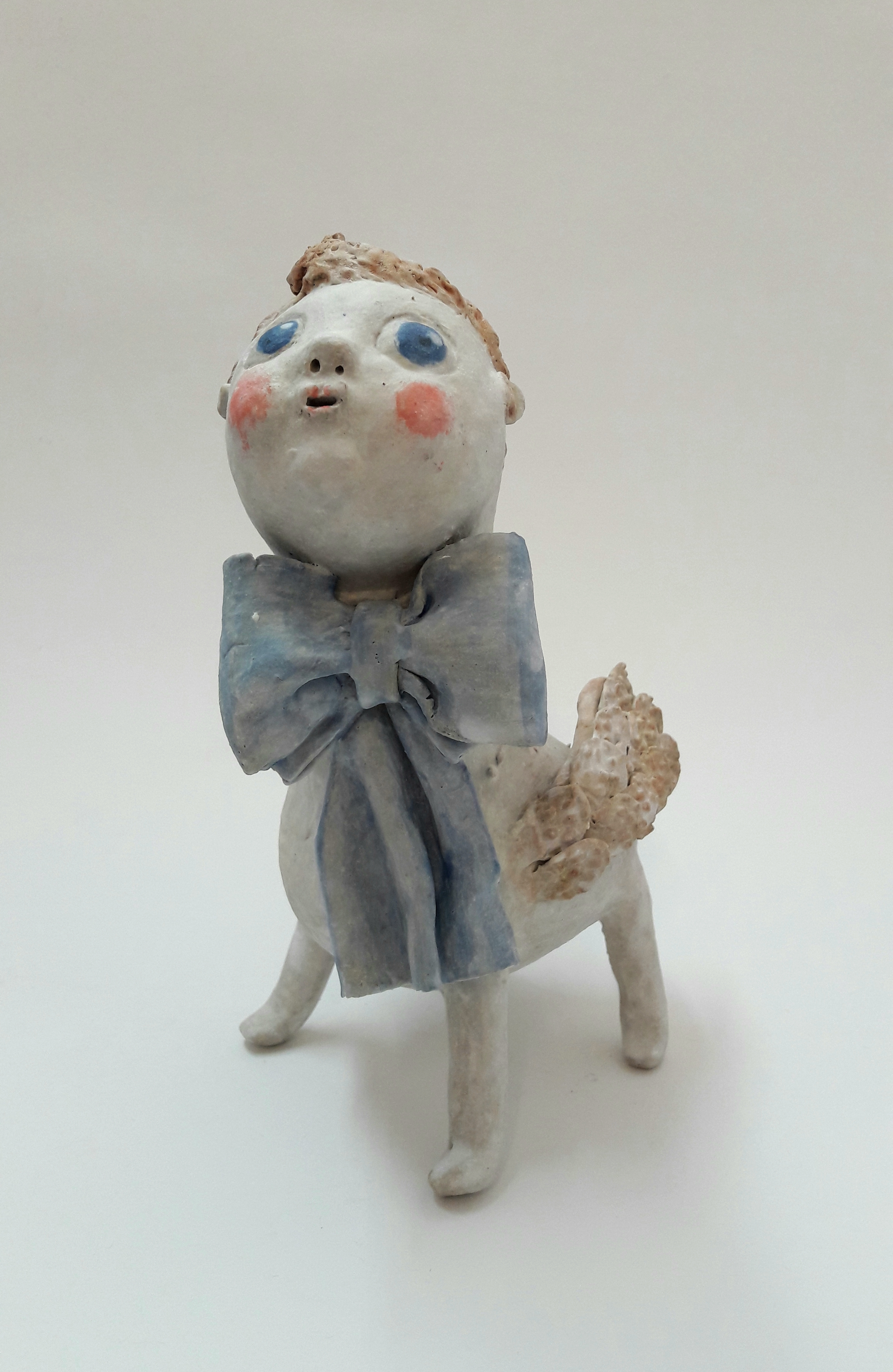 Boy with Blue Bow
