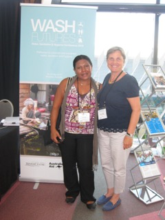 Talking clean water with the PNG Water Association.