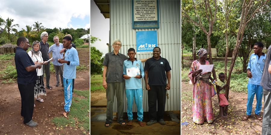 Moerk Water presents the local operator with is certificate