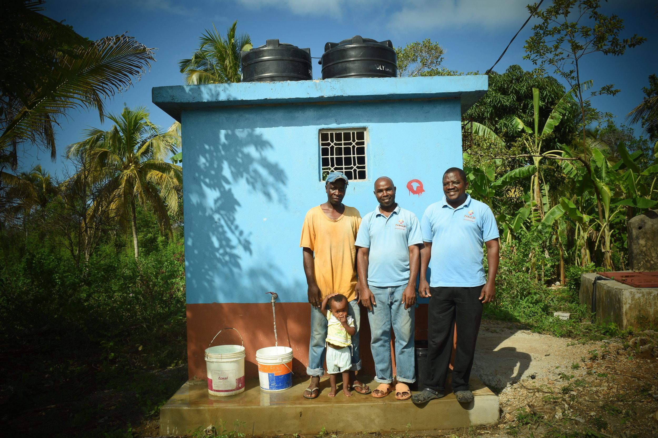 The local operators of Buju's water plant