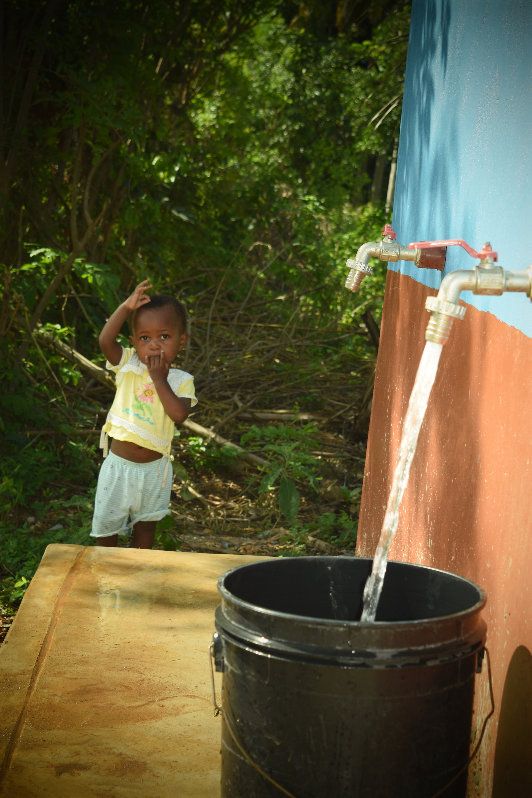 The children are healthier now because they have clean water