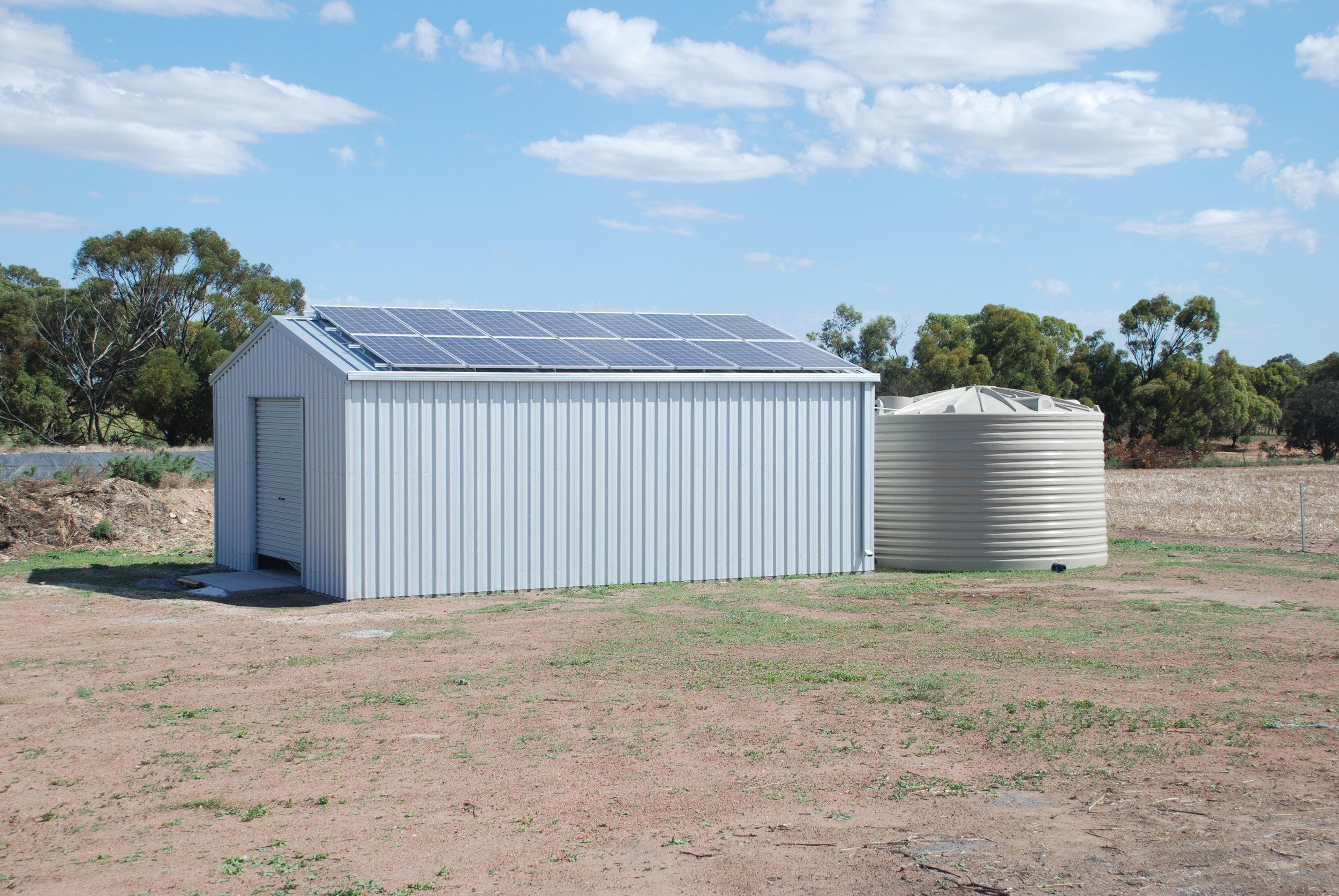 Cranmore Park's plant is housed under solar panels, taking full advantage of Western Australia'a abundant sunshine.