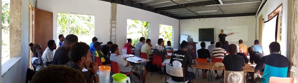 Participants at Moerk Water's desalination technology workshop