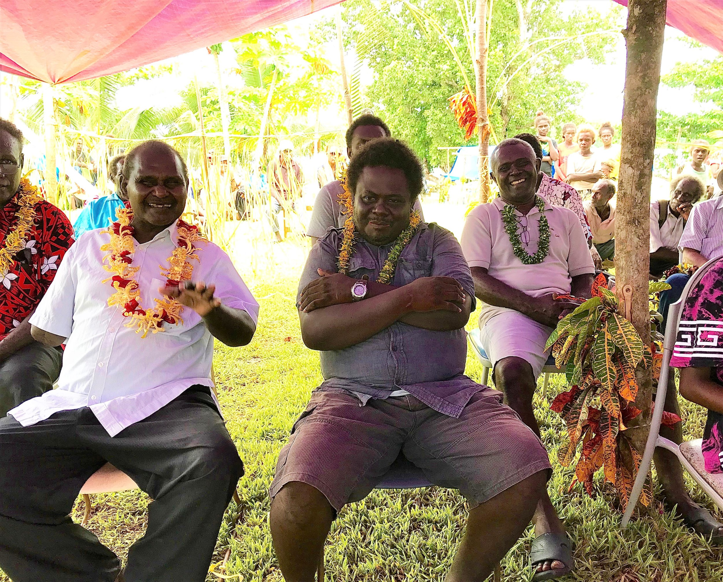 Tribal elders lead the opening ceremony