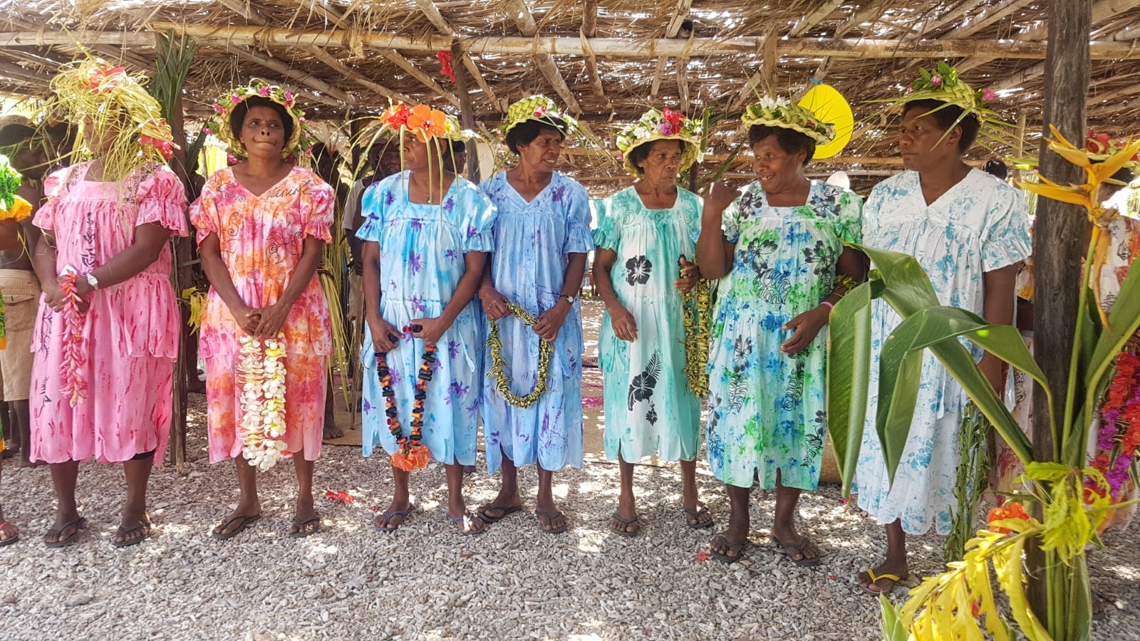 The village women looking bright and beautiful at the opening celebrations.jpg
