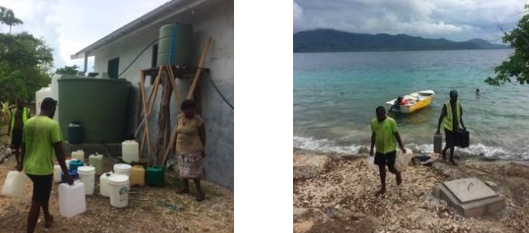 People arriving from neighbouring islands to collect surplus water from Moerk Water's water treatment plant..png
