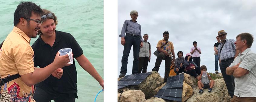Delegates observing Moerk Water's portable solar powered desalination unit at work..png