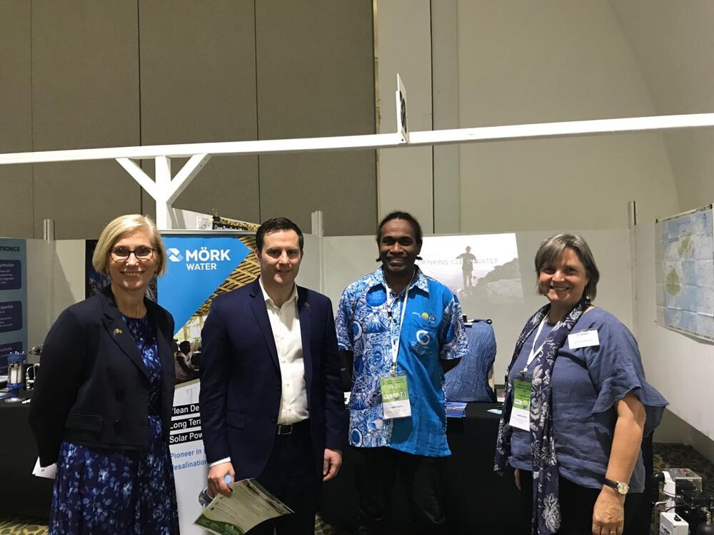 HE Ms Jenny Da Rin, Australian High Commissioner to Vanuatu and Hon Alex Hawke, Australian Minister for Pacific Affairs and International Development visited our booth.