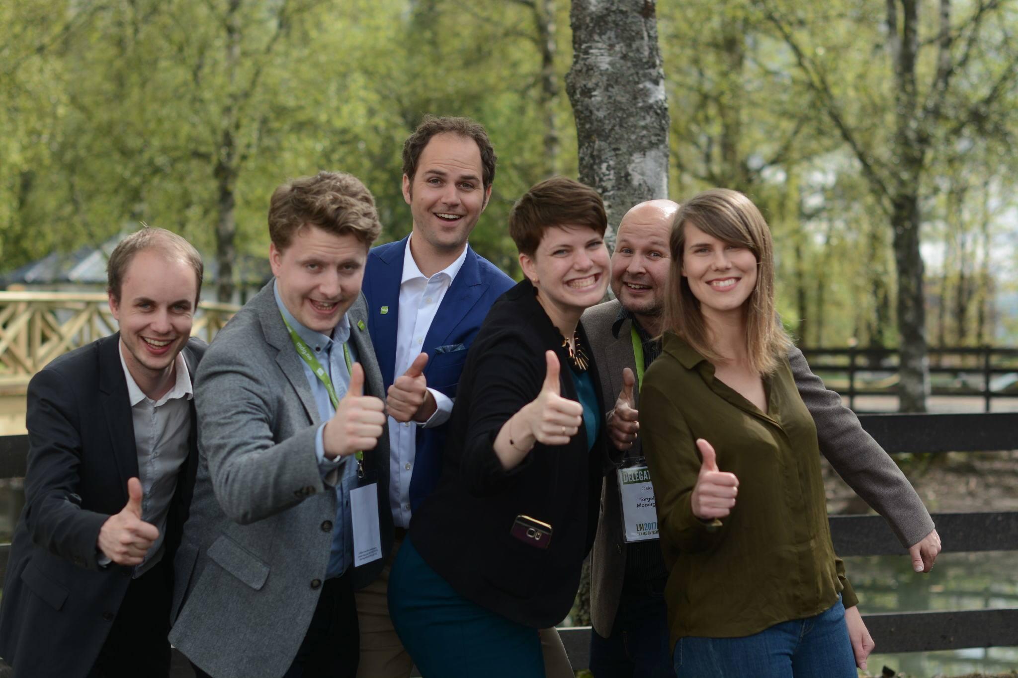 MDGs landsmøtedelegasjon fra Sagene. Sirin Hellvin Stav til høyre.