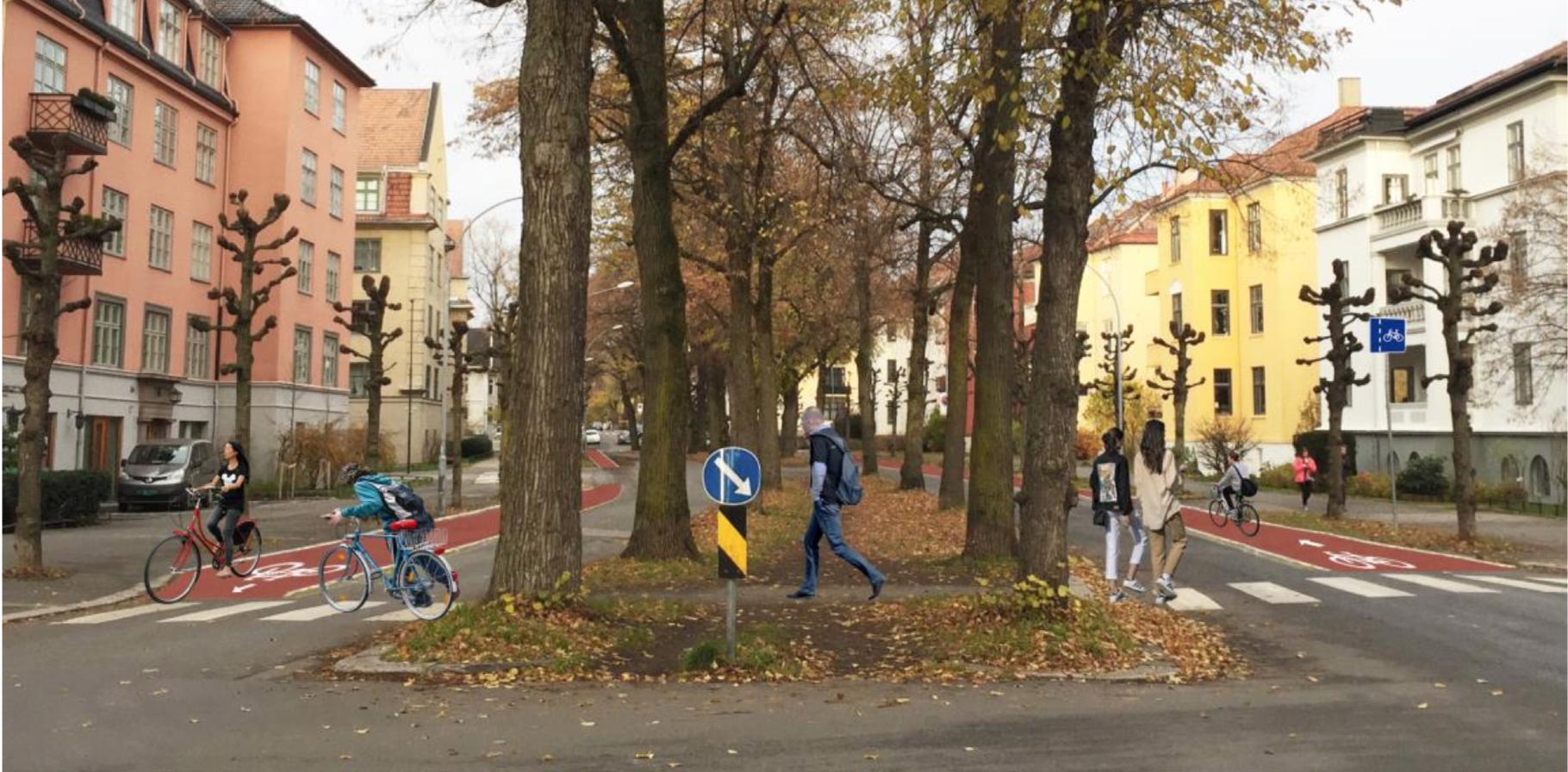 Fotomontasje fra Gyldenløves gate: Oslo kommune