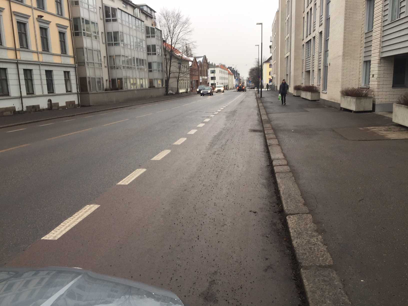 En gang for kort tid siden var asfalten rød.