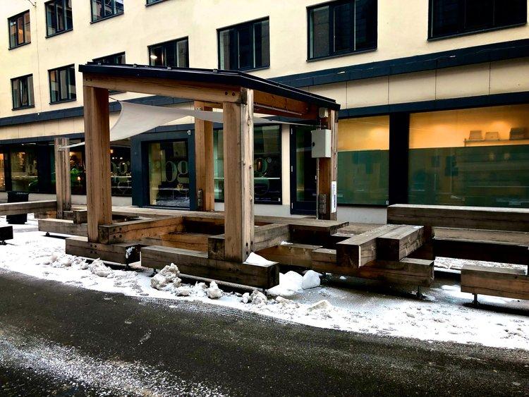 Byrådets utekontor i sine glansdager i Oslo sentrum.