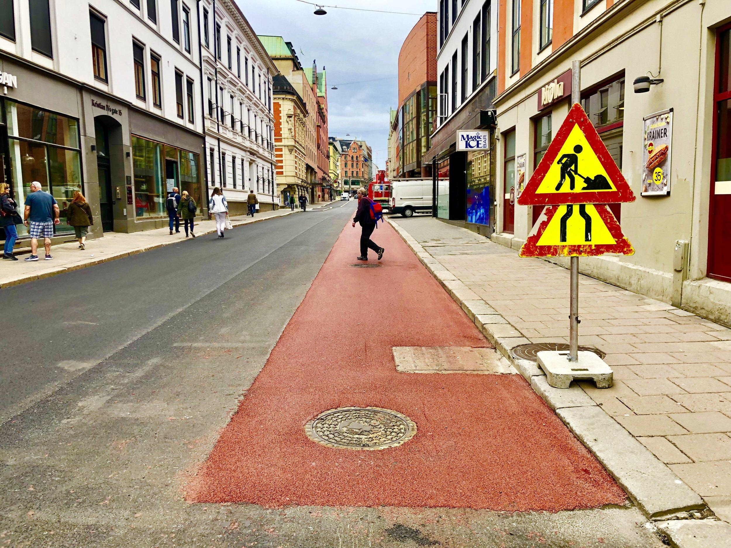 Her i Kristian IVs gate mener byrådet at 25 prosent av de reisende en vakker dag kommer syklende.