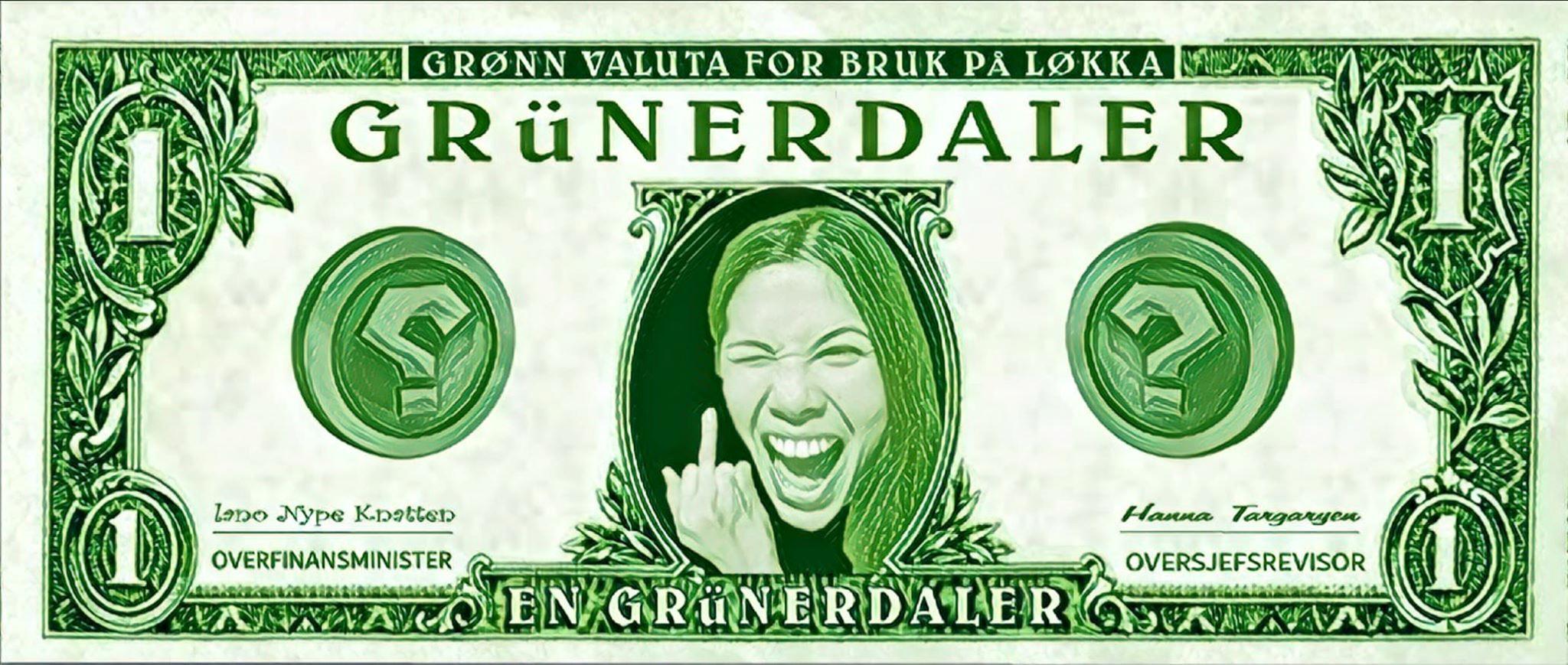 Byråd Lan Marie Berg ønsker seg lokal valuta på Løkka. Om den overlever MDGs grønne kommunistiske økonomiske politikk vet ikke MDG selv engang?