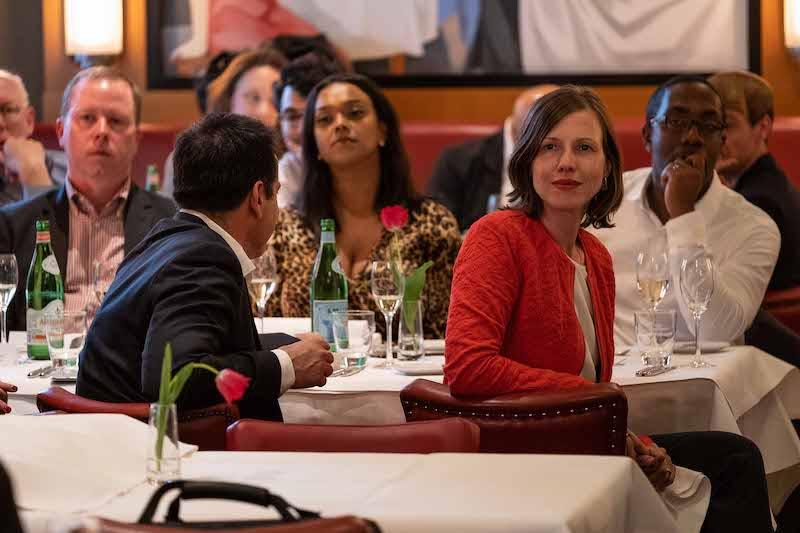 Oslos varaordfører i midten ved et middagsselskap i Berlin betalt av en tenketank.
