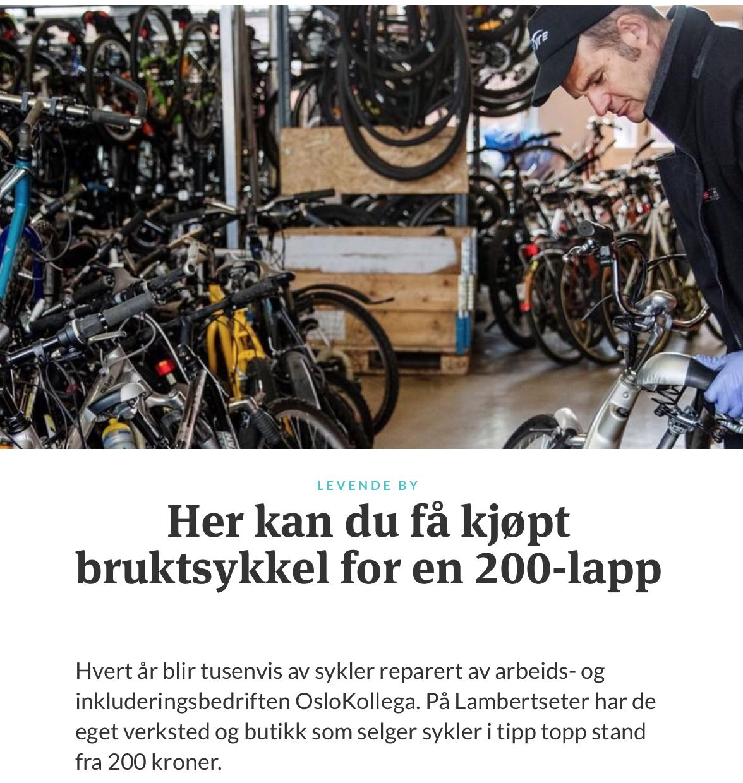 LES MER:  https://www.klimaoslo.no/2018/05/04/gir-nytt-liv-til-slitne-sykler/