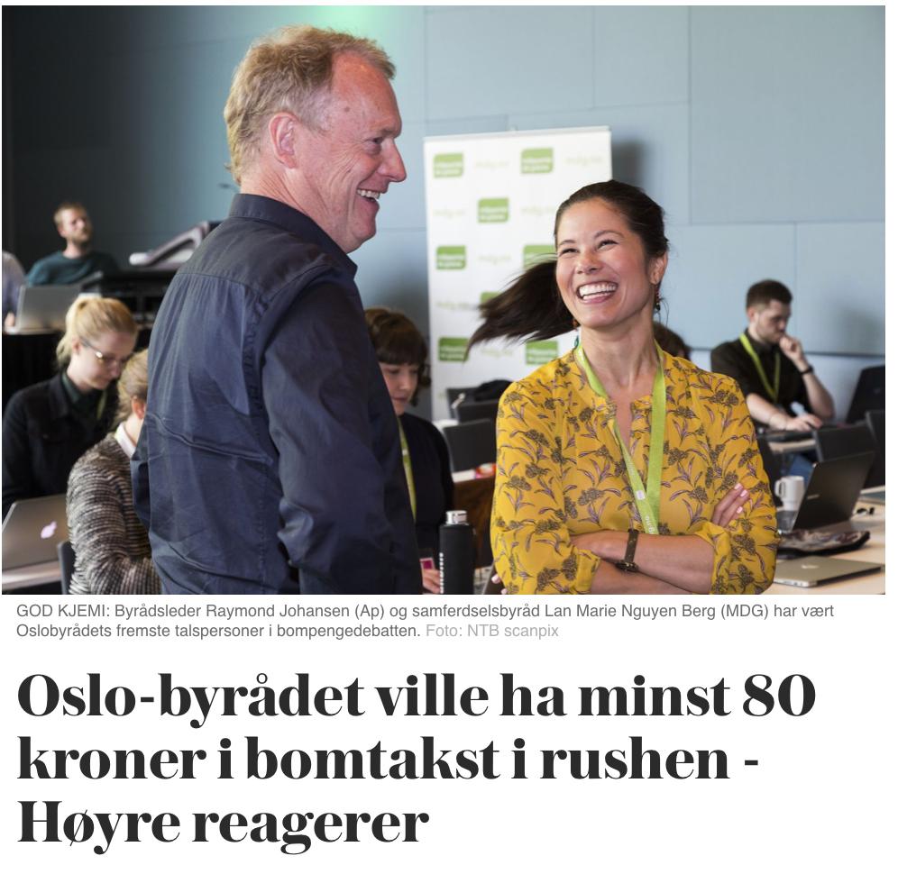 https://www.vg.no/nyheter/innenriks/i/pLVwLw/oslo-byraadet-ville-ha-minst-80-kroner-i-bomtakst-i-rushen-hoeyre-reagerer