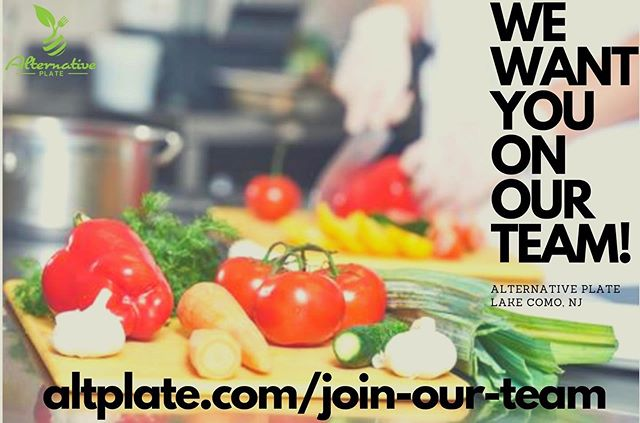 We are looking for new team members in the kitchen! Visit altplate.com/join-our-team and tag your friends!