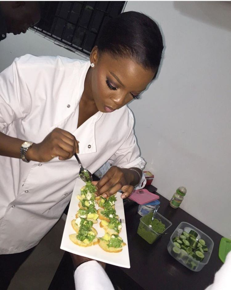 Photo: Yinka doing what she does best!