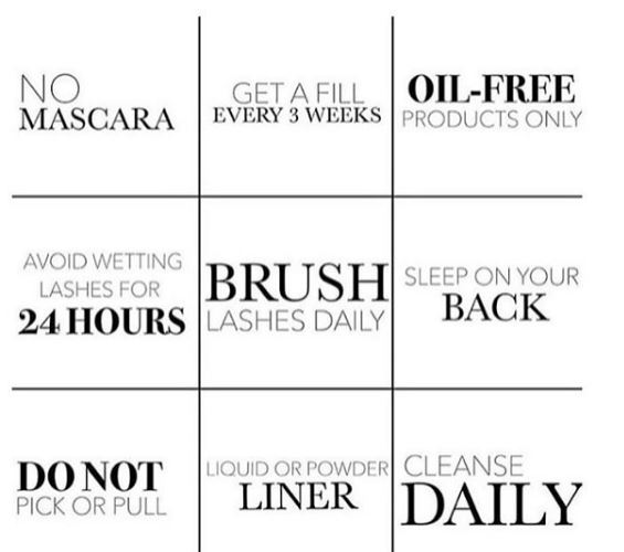 Photo: Eyelash extension aftercare tips
