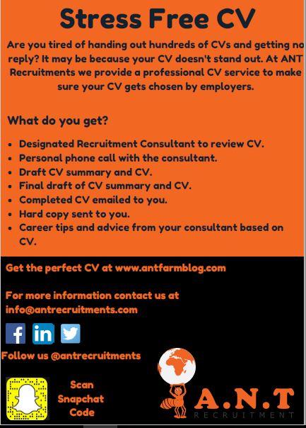 ANT Recruitment: Stress-Free CV