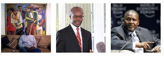 Left to right: Seth Dei, Paa Kwesi Ndoum and Aliko Dangote