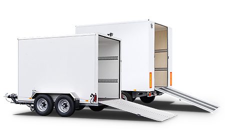 12m³ and 18m³ storage space for an additional load of up to 1.8 tons.