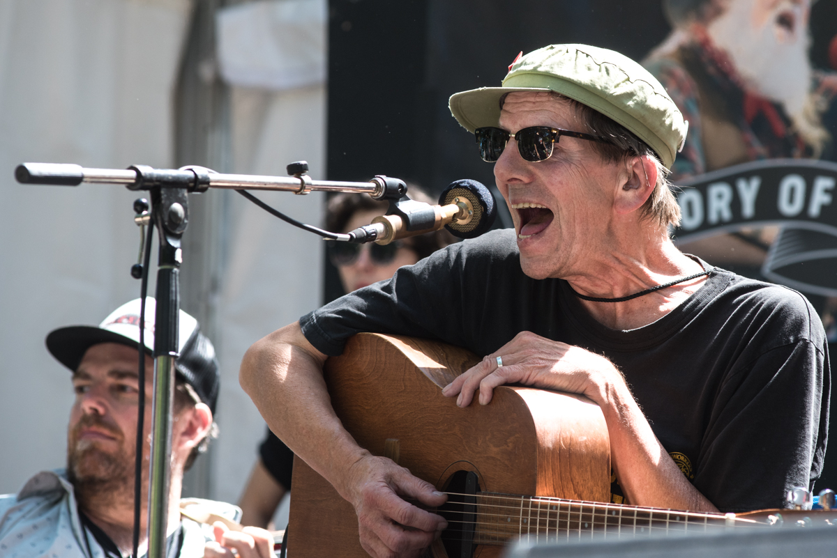 Art Bergmann captured performing live at the Vancouver Music Festival